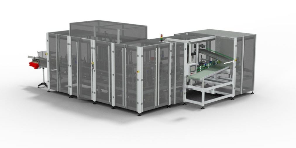 The V800 Top Loading Bottle Cartoner Utilises The Esatec Developed Pick And Place System For Automated Packing Of Bottles Into Vertically Filled Type Boxes. The Esatec Developed Pick And Place Feeder Can Easily Deal With Cartons That Have Either Crash Lock Or Speed Lock Style Bottoms. The Pick And Place Feeder Also Minimises The Incorrect Forming Of Cartons Before Filling, Reducing Waste And Machine Down Time.  The V800 Is Capable Of Automated Packing Of Bottles At A Production Rate Of 8,500 Bottle's Per Hour For A Single Stream Machines or 16,000 Bottle's Per Hour For Twin Stream Machines