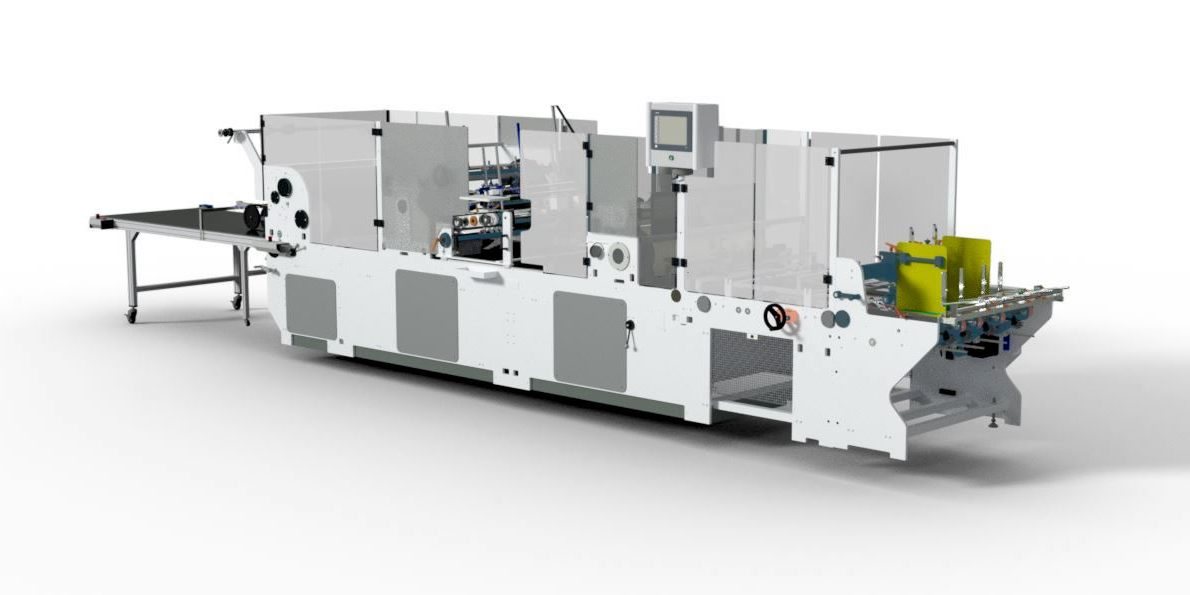 The Digistar WPPP Is Capable Of Pick And Placing Die Cut Windows To Cartons To A Consistently High Level Of Quality.  The Machine Features A Conventional Window Patching Section Typically Used For Applying Polyester And Acetate Film Patches To Carton Apertures.  The Machine Is Also Equipped With An Inline Notching And Scoring System For Producing Cut Creased Windows Inline, Directly From Reels Of APET or PVC, Eliminating An Additional Die Cutting Operation, Thus Saving Time And Money.  A Further Enhancement Of The Machine Is The Triofold System Whereby A Full Panoramic Window Can Be Applied To The Carton, Triofold Windows Can Completely Cover The Full Width Of The Carton Or Knife To Knife. Utilising This Feature Can Further Save On Printing And Die Cutting Operations And Material Costs Because A Greater Number Of Stations Can Now Be Printed